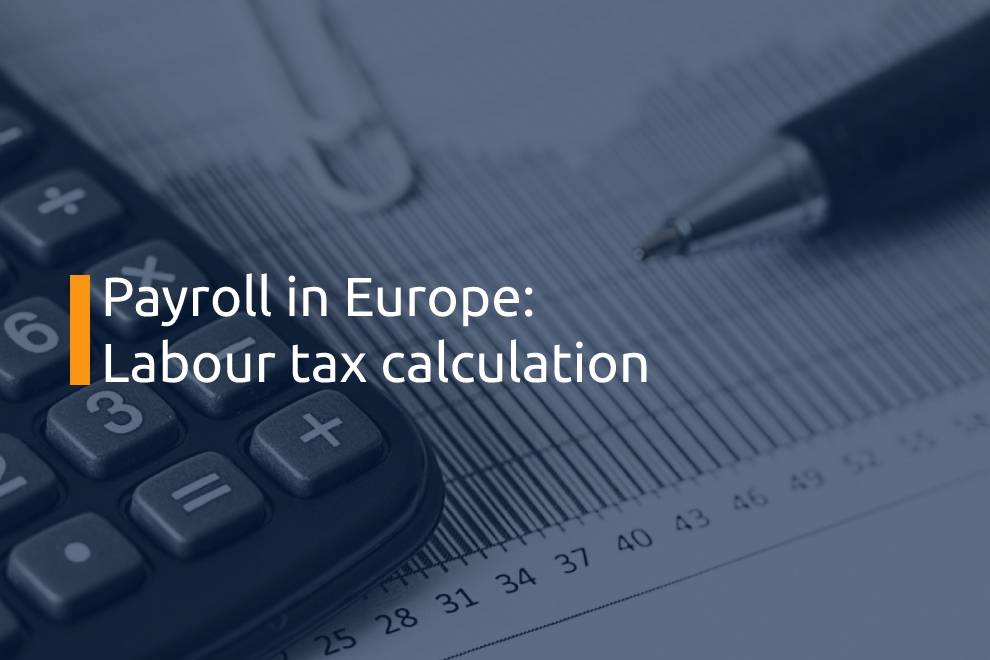 Payroll in Europe Labour tax calculation scale